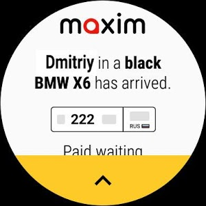 screenshot of maxim — order a taxi version Varies with device