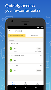 screenshot of Yandex.Transport version 5.13.1