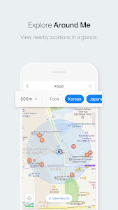 screenshot of NAVER Map, Navigation version Varies with device
