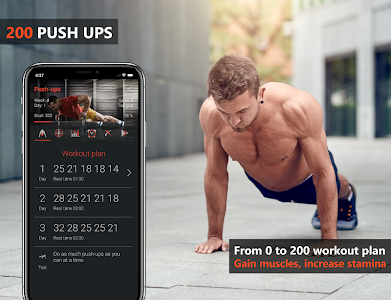 screenshot of 200 Push Ups - Calisthenics Bodyweight Workouts version 2.8.0