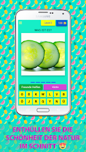 screenshot of ? 250+ GUESS FRUITS AND VEGETABLES ON GERMAN version 3.5.8z