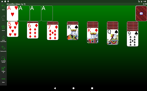 screenshot of 250+ Solitaire Collection version 4.4.3