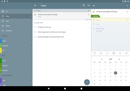 screenshot of 2Do - Reminders, To-do List & Notes version 2.13