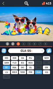 screenshot of 8 Words Apart : 1 picture, 1 letter puzzle version 1.1.37
