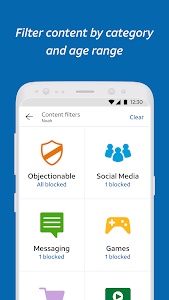 screenshot of AT&T Secure Family™ version 10.7.3