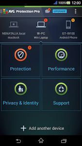 screenshot of AVG Protection for Xperia™ version 4.2.1.4