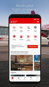 screenshot of AirAsia version 10.3.1