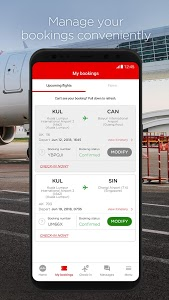 screenshot of AirAsia version 10.5.1