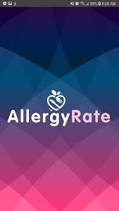 screenshot of AllergyRate version 1.0.1