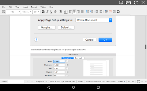 screenshot of AndroDOC editor for Doc & Word version 3.7.3
