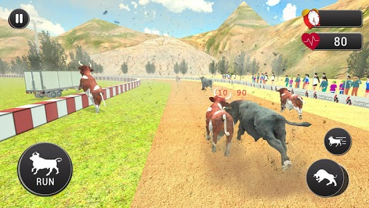 screenshot of Angry Bull Attack – Cowboy Racing version 1.0