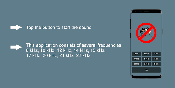 screenshot of Anti Mosquito Sound version 1.0.0