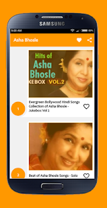 screenshot of Asha Bhosle Old Songs version 1.6