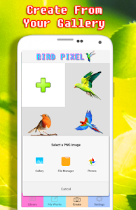 screenshot of Beautiful Bird Coloring By Number - Pixel version 2.0