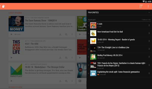 screenshot of BeyondPod Podcast Manager version Varies with device