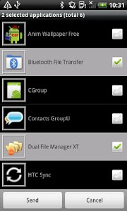 screenshot of Bluetooth File Transfer version Varies with device