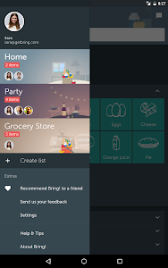 screenshot of Bring! Grocery Shopping List version 3.30.2