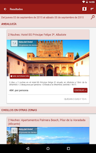 screenshot of BuscoUnChollo - Ofertas Viajes, Hotel y Vacaciones version 4.7.4