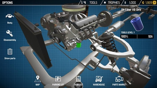 screenshot of Car Mechanic Simulator 18 version 1.1.7