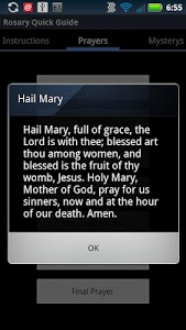 screenshot of Catholic Rosary Quick Guide version 1.3