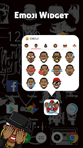 screenshot of CoCo Launcher - Black Emoji, 3D Theme version 1.0.1