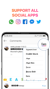 screenshot of Cool Fonts for Instagram - Stylish Text Fancy Font version 4.3