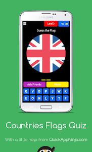 screenshot of Countries Flags Quiz version 7.7.1z