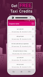screenshot of Coupon Codes for Lyft version 2.0