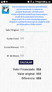 screenshot of Cuentas Claras version 1.8