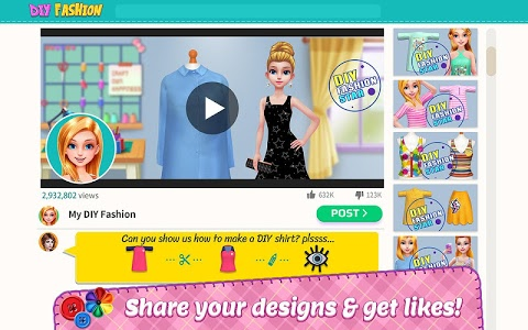 screenshot of DIY Fashion Star - Design Hacks Clothing Game version 1.1.5