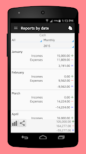 screenshot of Daily Expenses 3 version 3.2.09
