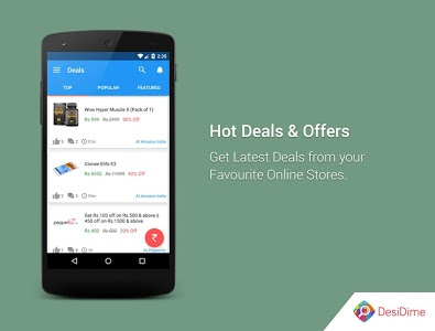 screenshot of DesiDime - Online Deals & Coupons version 3.0.8