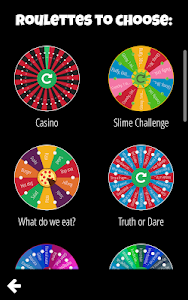 screenshot of Decision Roulette version 1.0.62