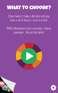 screenshot of Decision Roulette version Varies with device