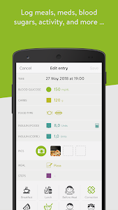screenshot of mySugr: the blood sugar tracker made just for you version 3.54.1