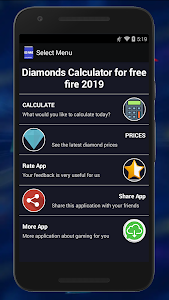 screenshot of Diamonds?Free Fire Calc FREE version 1.40.2019ff