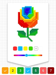 screenshot of Draw.ly - Color by Number Pixel Art Coloring version Varies with device