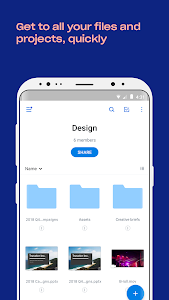 screenshot of Dropbox version Varies with device