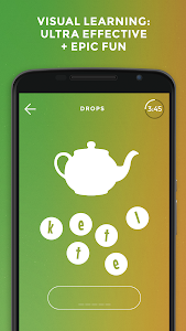 screenshot of Drops: Learn Korean, Japanese, Chinese language version 28.2