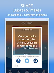 screenshot of Daily Motivational Quotes App version 1.2.1