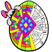 Easter Eggs Color by Number - Adult Coloring Book