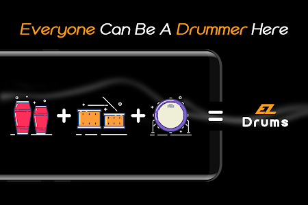 screenshot of Easy Real Drums-Real Rock and jazz Drum music game version 1.2.4