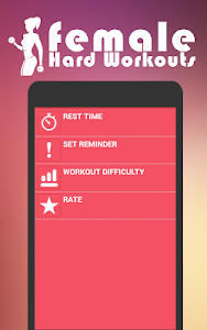 screenshot of Female Hard Workouts ( home fitness ) version 1.82
