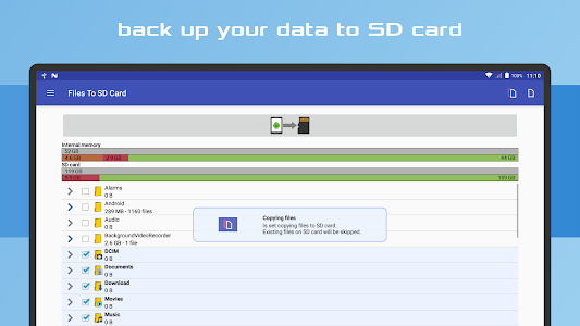 screenshot of Files To SD Card version 1.673