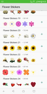 screenshot of Flower Stickers - WAStickerApps version 1.0