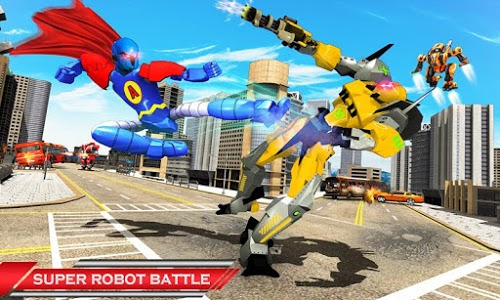 screenshot of Flying Hero Robot Transform Car: Robot Games version 1.0.1