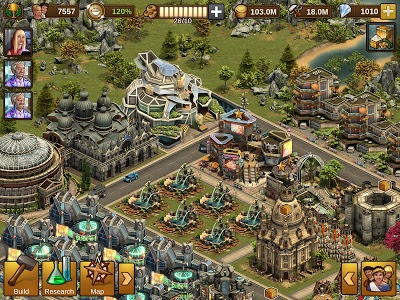 screenshot of Forge of Empires version 1.109.2