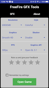 screenshot of GFX Tool Pro - Free Fire Booster version 0.2