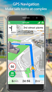 screenshot of GPS Live Street Map and Travel Navigation version 1.2.6