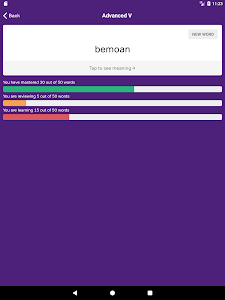 screenshot of GRE Flashcards version 3.4.0